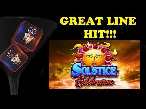 FULL SCREEN LINE HIT - BIG WIN! KONAMI - SOLSTICE CELEBRATION