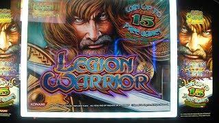 Legion Warrior MAX BET BIG WIN Slot Machine Bonus Round Free Games