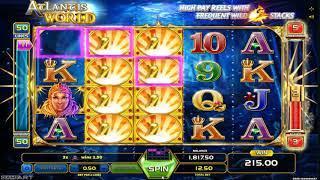 Atlantis World slot - 327 win!