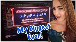 My BIGGEST HANDPAY EVER on Cleopatra 2!! MASSIVE Slot Jackpot Handpay!