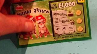 "NEW Christmas  Scratchcards'SANTA PAWS""RUDOLPH'S RICHES'SECRET SANTA' & NEON 9's.& More"