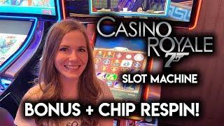 James Bond Casino Royale! BONUS + Chip Re-Spins!!