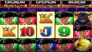 Multiple Jackpots WON! The Bullfighter slot machine! Awesome game for jackpots!