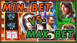 • Walking Dead • MIN vs MAX Bet • • Who WINS more? • Slot Fruit Machine Pokies w Brian Christopher