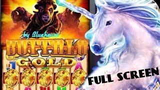 •5 BONUS SYMBOLS• BUFFALO GOLD slot machine Bonus and MASSIVE LINE HITS!