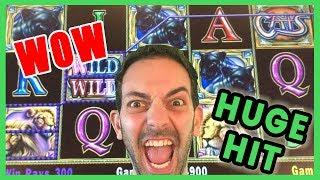 • HUGE HIGH LIMIT Hit on CATS •$15/SPIN • Brian Christopher Slots