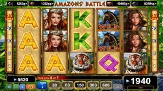 Amazons' Battle slot - 3,890 win!