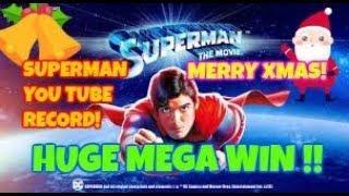 SUPERMAN (PLAYTECH) **MONSTER BONUS WIN** HIGHEST ON YOU TUBE!
