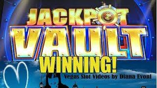 JACKPOT VAULT SLOT MACHINE BONUS-WINNING