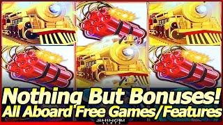 All Aboard Dynamite Dash Slot Machine - Nothing But Bonuses!  Free Spins and All Aboard Features