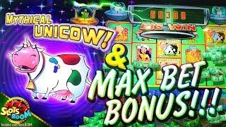 Unicow & MASSIVE BONUS !!! Invaders Return from Planet Moolah - Wms 1c Video slot