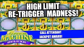 RE-TRIGGERS LIKE CRAZY! ★ Slots ★ GREEN MACHINE DELUXE SLOT MACHINE ★ Slots ★ HIGH LIMIT JACKPOTS UP
