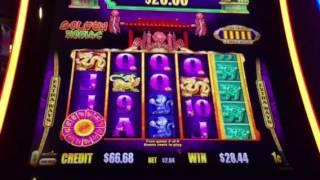 Gold Stacks Golden Zodiac Slot Machine Free Spin Bonus #2 & Progressive New York Casino Las Vegas