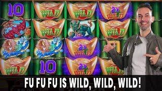 • WILD WILD WILD on FU FU FU • #Retriggers and Multipliers For a HUGE BONUS • Agua Caliente