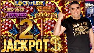 ★ Slots ★2 HANDPAY JACKPOTS★ Slots ★ On High Limit EUREKA Lock It Link & Hold Onto Your Hats Slot Ma
