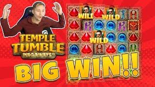 BIG WIN Temple Tumble Megaways - New slot from Relax Gaming - Huge win on Casino Game