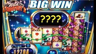 $20 High Limit Bet * LIVE PLAY * PROGRESSIVE * BONUS + 2 BIG WINS on WILD SHOOTOUT Slot Machine