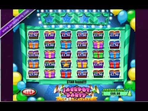 £210 SURPRISE JACKPOT WIN (1050 : 1) ON SUPER JACKPOT PARTY™ ONLINE SLOT GAME AT JACKPOT PARTY