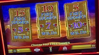 SCARAB MAX BET BONUS! How many FREE GAMES would YOU choose? Casino Slot Machine Videos
