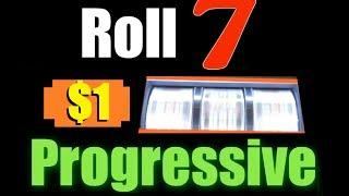 ★ ROLL 7 PROGRESSIVE MAX BET HIGH LIMIT SLOT MACHINE! Live Play And Progressive Bonus Win! ~WMS
