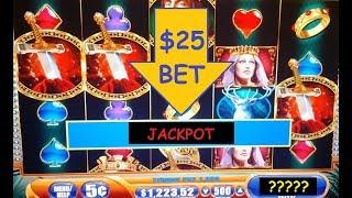 JACKPOT HAND PAY!  $25 BET - The King and the Sword - High Limit Slot Machine Free Spins Bonus