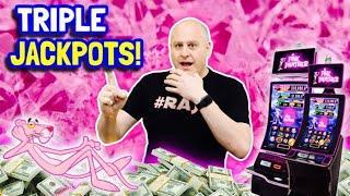 ⋆ Slots ⋆ Triple Pink Panther Jackpots  ⋆ Slots ⋆ Mystical Fortunes Max Bet Bonus Round Jackpots Wins!