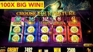 Timber Wolf Deluxe Slot Machine 100X *BIG WIN* $5 Max Bet Live Play Bonus!
