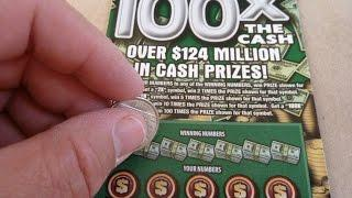 100X the Cash! - $20 Illinois Instant Lottery Scratch-off Ticket Video
