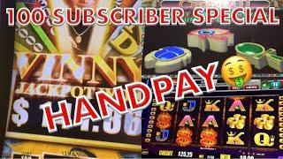 HANDPAY ALERT * CLEOPATRA 2 * 400x my bets * 100 SUBSCRIBER SPECIAL