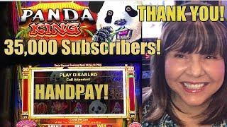 HANDPAY! PANDA KING SLOT MACHINE-CELEBRATING 35000 SUBS!