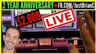 • $2,000 Live Stream • $100 Wheel of Fortune + MORE! •• • Slot Machine Pokies w Brian Christopher