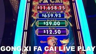 Gong Xi Fa Cai Live Play at Max Bet at The Cosmopolitan in Las Vegas Slot Machine