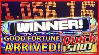 GOOD FORTUNE ARRIVED ON THIS DAY! • JACKPOT HANDPAY!! QUICK SHOT DUANWU • BIG WINS & BONUSES