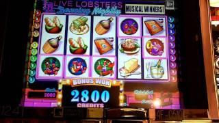 WMS - Live Lobsters Dancing Nightly Slot Musical Winners Bonus