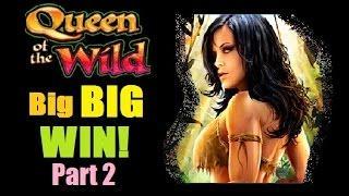 ★ BIG BIG BIG WIN!! QUEEN OF THE WILD SLOT MACHINE BONUS WIN! Part 2 of 2 Slot Machine Bonus!