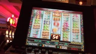 Bombay Slot Machine bonus re-trigger JACKPOT handpay high limit $19 bet pokie