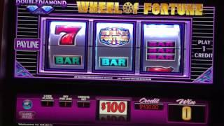 $100 Wheel Of Fortune LIVE PLAY JACKPOT HANDPAY High Limit Slot Machine Aria Las Vegas pokie
