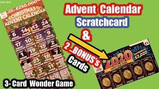 Its..The Advent Calendar Scratchcard...and ..£1 poundland's card Bonus..  on Three Card Wonder..Game