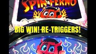 BIG WIN! SPIN FERNO SLOT MACHINE BONUS- 5 Cent denomination