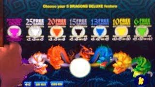 Aristocrat 5 Dragons Deluxe Slot Machine - Mystery Choice Fails