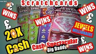 •Wow!•Winners Everywhere•BIG DADDY Scratchcards•Millionaire 7s•Jewels Millionaire•20X(classic)