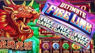 ULTIMATE Fire Link Slot Machine Free Games & Fire Link Feature Won | MIGHTY CASH Slot Machine Bonus