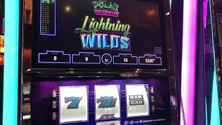 """""""Polar High Roller Lighting Wilds"""" VGT Slots $18 Max RED WIN SPINS  Choctaw Casino"""