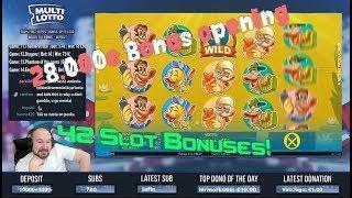 Big Bonus Collection Including 42 Slot Bonuses!!