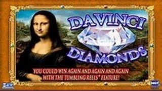 Davinci Diamonds Slot Machine- Live Play- Double or Nothing
