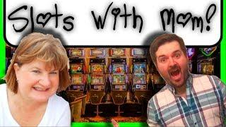 SLOTS W/ MOM! I FINALLY GOT THESE BONUSES AFTER A YEAR OF TRYING! AMAZING BONUS WINS W/ SDGuy1234
