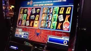 WMS Spider-Man slot machine at Eastside Cannery