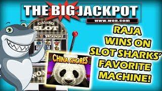 •RAJA WIN$ on • SLOT SHARKS' • FAVORITE MACHINE •️ •️ CHINA SHORES!