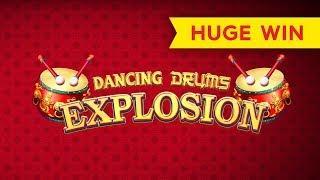 Dancing Drums Explosion Slot - BIG WIN - $10 MAX BET BONUS!