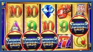 ** 4 SYMBOL TRIGGER ON THUNDER CASH  ** SLOT LOVER **